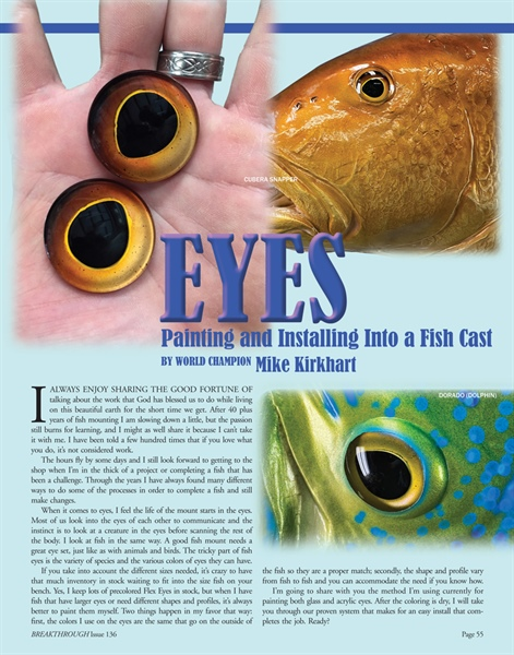Painting and Installing Fish Eyes into a Cast Fish