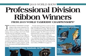 Professional Division Ribbon Winners from 2019 world Taxidermy Championships®