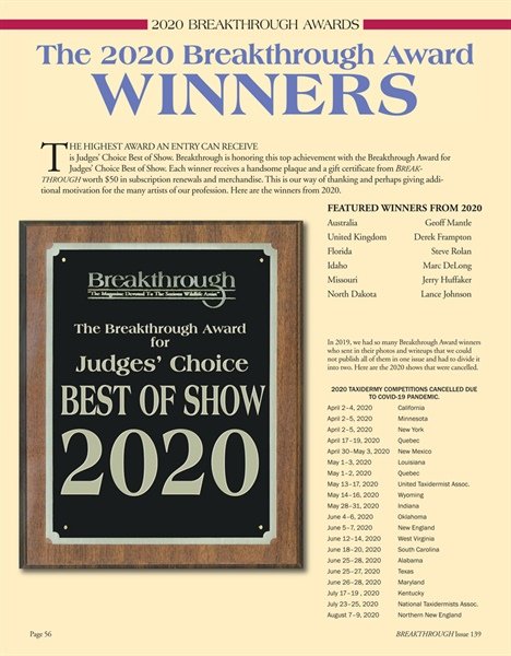 Breakthrough Award Winners 2020